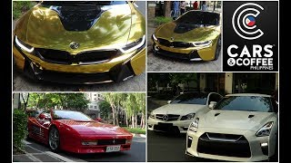 2018 Cars & Coffee Philippines (Manila) + Supercars, Manila GT-R Owners Club, Gold BMW i8 and MORE!