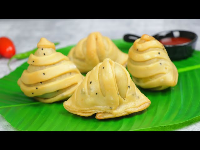 আলুর লেয়ার্ড সিঙ্গারা | How to make Shingara/Singara | layered Aloo Singara | Layered Potato Samosa