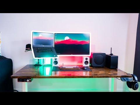 Clean & Ergonomic Laptop Desk Workstation