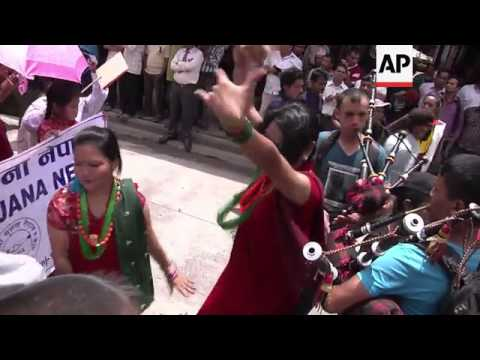 Nepal's LGBT community parades for same-sex marriage
