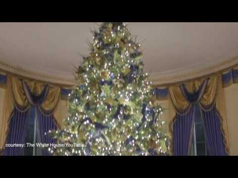 melania trump unveils her white house christmas decor