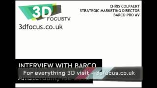 Barco talk about high frame rates and 3D projection (audio only)