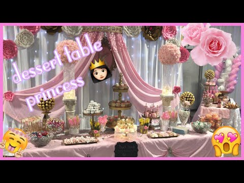 Mesa de dulces para quinceañeras #Desserts table #ideas #princess