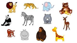 Learning Wild Animal Names || Forest/Zoo/Safari Animals || जंगली जानवरों के नाम || TITU Learning