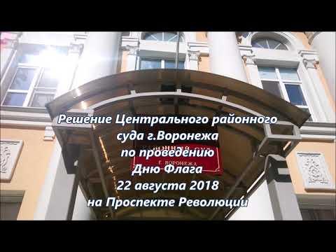 Решение Центрального районного суда г.Воронежа по проведению Дню Флага