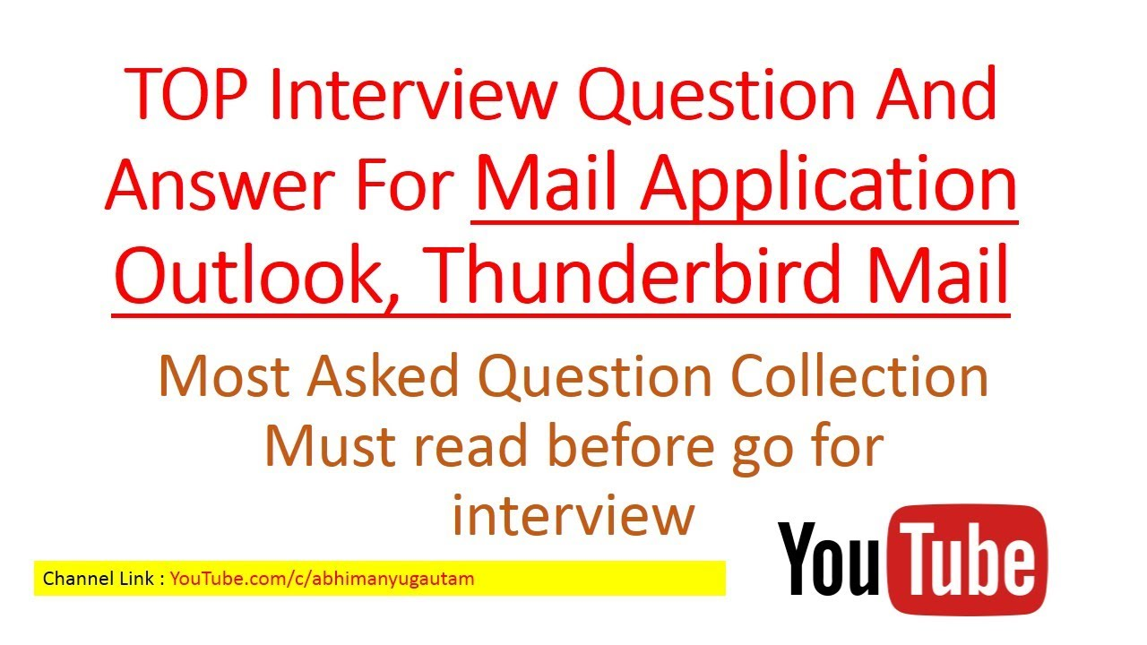 TOP MS Outlook Questions And Answers