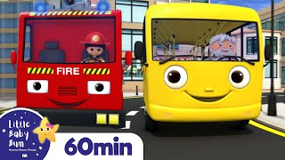 Wheels On The Bus with Fire Truck! | +More Nursery Rhymes | ABCs and 123s | Little Baby Bum