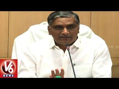Minister Harish Rao Warns Contractors For Delay In Palamuru Projects   Mahabubnagar Dist   V6 News