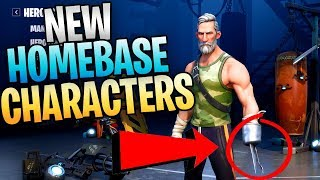 FORTNITE - New Homebase Characters And Front End Improvements