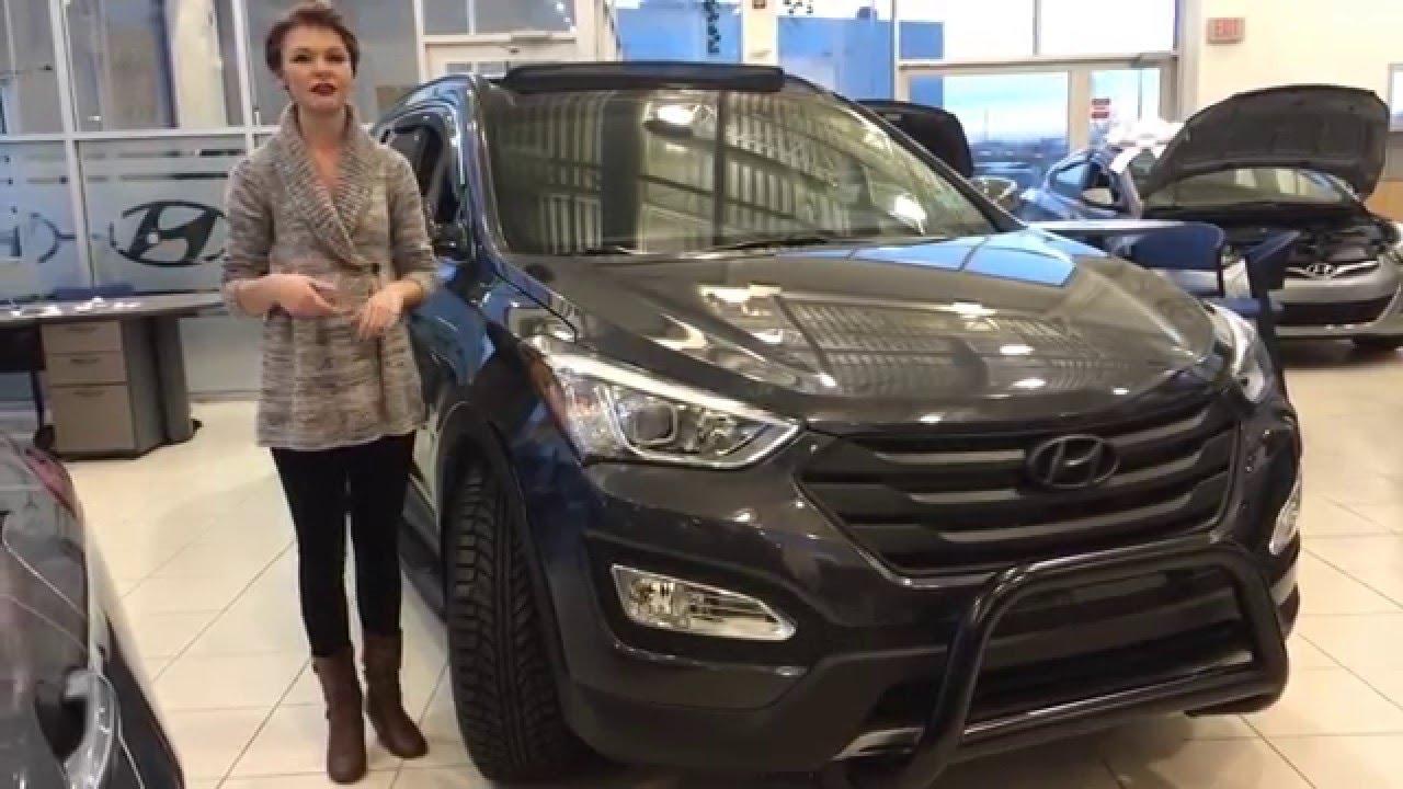 2016 Hyundai Santa Fe Sport 2 0t Limited Black Out Edition Sherwood Park Hyundai Youtube