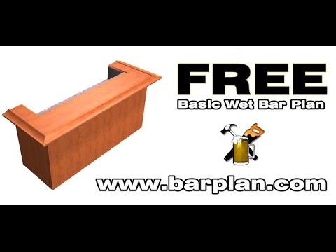 How to Build A Basic Home Bar - YouTube