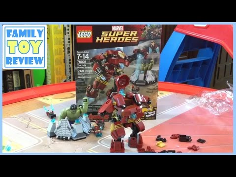 Lego Hulk Buster Smash Iron Man 76031 Speed Build - Avengers Movie: Age of Ultron by FamilyToyReview