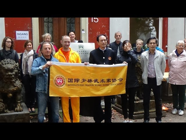 Ceremonie new branch Shaolin Kung Fu Belgium to Thomas Roelant student of GM Walter Toch 29 septembe