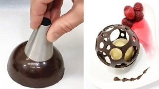 Chocolate Spheres Easy Chocolate Technique to Make At Home by CakesStepbyStep