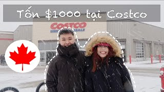 Du Học Canada 🇨🇦  Mình Đã Shopping $1000 Tại Costco  Mua Sắm Ngày Bão Tuyết  MrBiLe 
