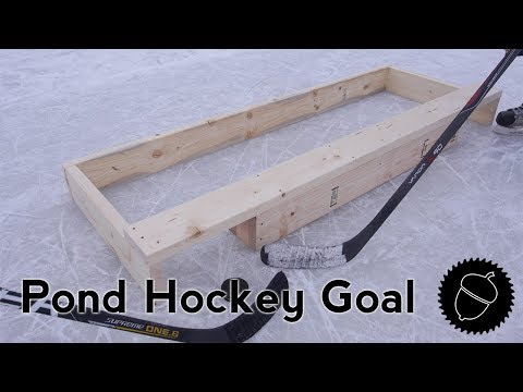 How to Build a Pond Hockey Goal!