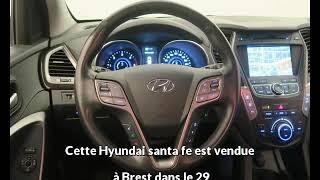 Hyundai santa fe occasion visible à Brest présentée par Auto style brest