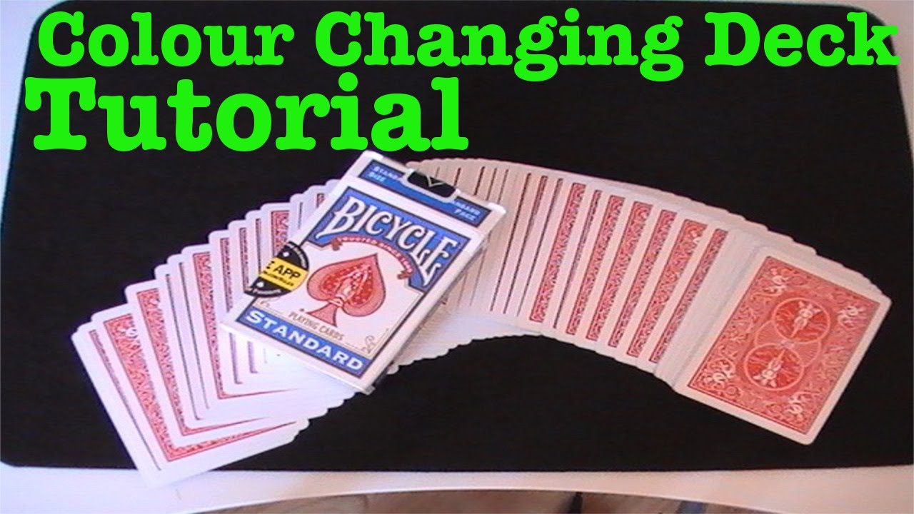 colour changing deck  card trick tutorial  youtube