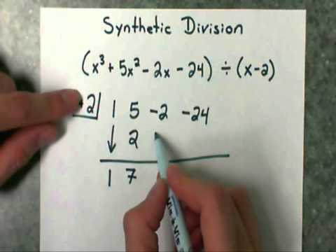 synthetic division part 1 divide a polynomial by a binomial youtube. Black Bedroom Furniture Sets. Home Design Ideas
