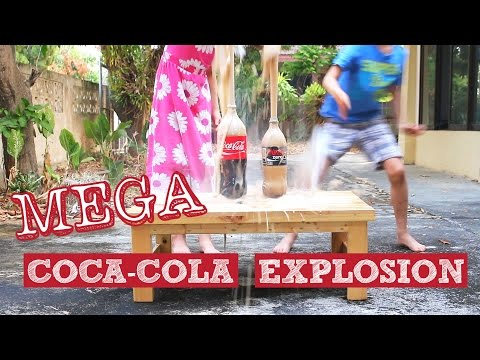COOL Experiments with Coca-Cola and Baking Soda, MEGA COKE EXPLOSION!!! BIGGER than Coke and Mentos!