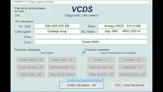 Démonstration VCDS en français - www.rosstech.fr