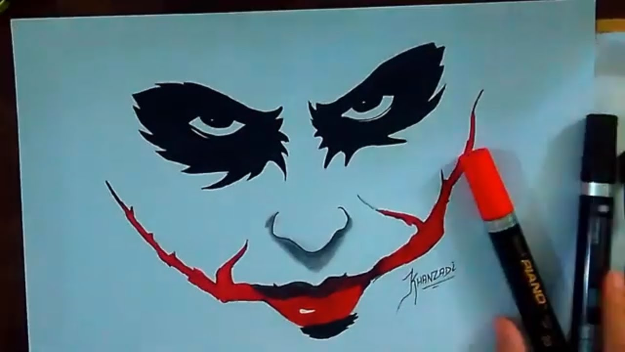 How To Draw The Joker Face By Color Markers Easy And Quick Sketch The Joker 2020 Youtube
