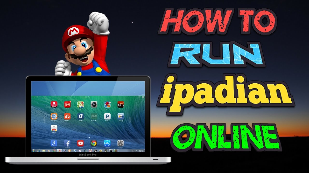 How To Run IPADIAN online No Software Needed !!! 2016