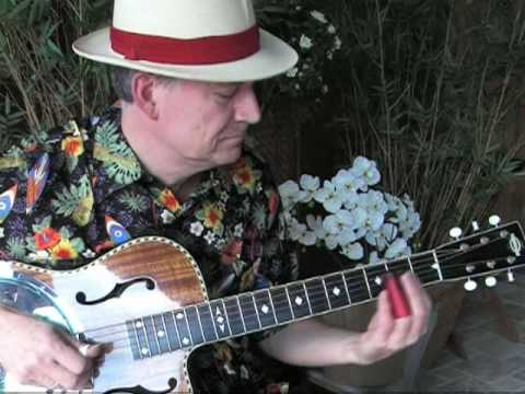 Blue Hula - Slide instrumental in open G - Blues, Hawaiian slack key and Steel Guitar