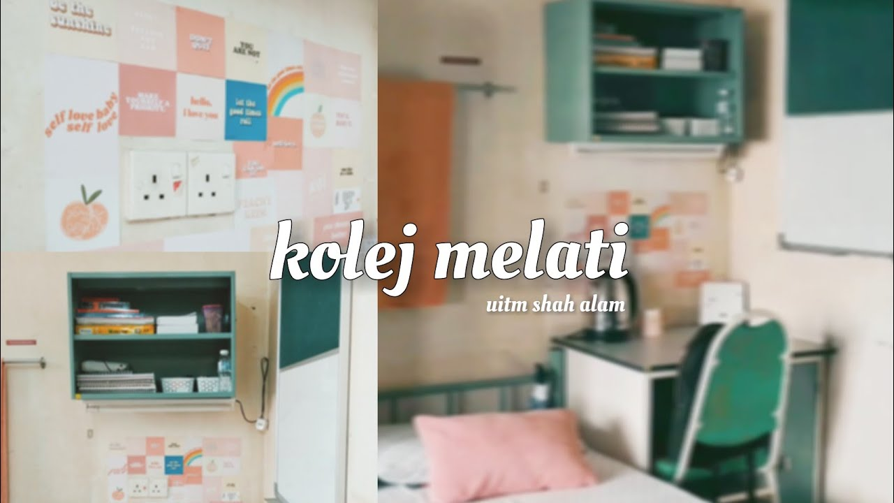 Dorm Room Tour Kolej Melati Uitm Shah Alam Youtube