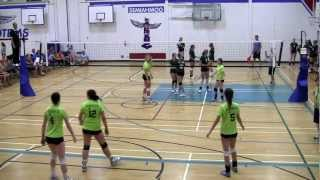 2012 BC Summer Games Indoor Girls Volleyball Semi-Finals - Zone 5 vs Zone 6 (Set 2)