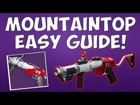 Destiny 2 - MOUNTAINTOP GUIDE - EASY IN PURSUIT OF HONOR