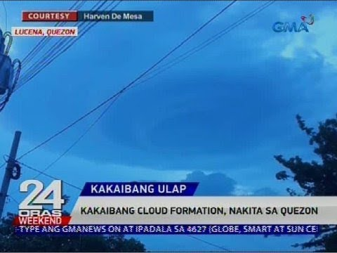 Kakaibang cloud formation, nakita sa Quezon thumbnail