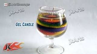 HOW TO: make Sand Art Gel Candle  - JK Arts 486