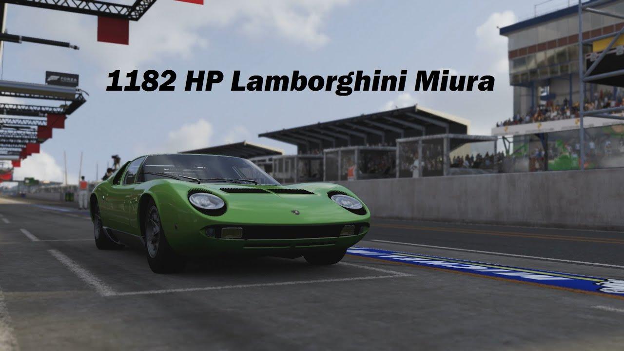 How Fast Will It Go 1967 Lamborghini Miura P400 Forza 6 Youtube