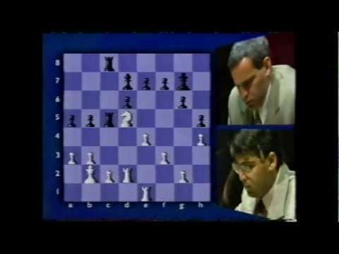 BBC coverage of World Chess 1995 Kasparov v Anand