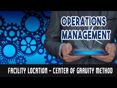 Facility Location - Center of Gravity Method