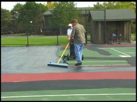 SportMaster: Tennis Court Resurfacing - Mixing and Applying Acrylic Resurfacer