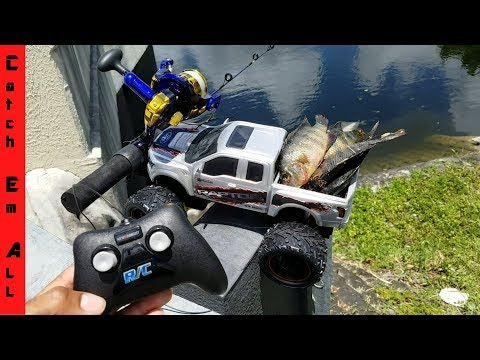 RC Car Catches Fish! HILARIOUS!