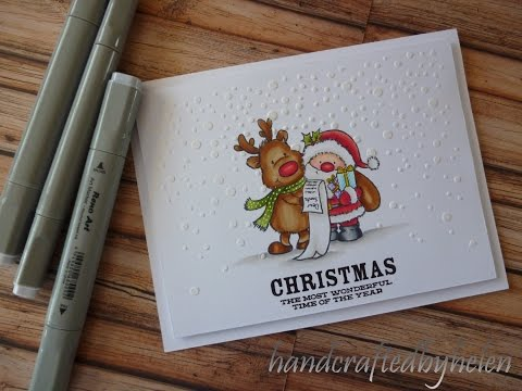 Rudolf And Santa's List Card Number 1  Christmas Series 2016