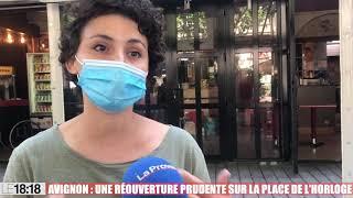 Avignon : les bars et restaurants de la place de l'horloge préparent leur réouverture