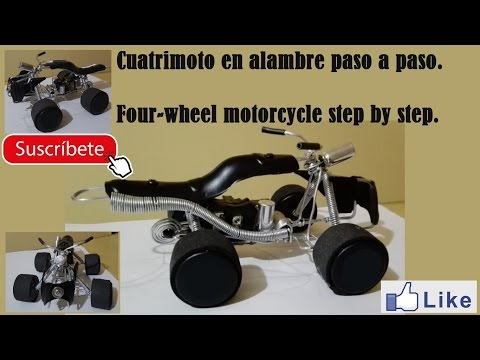Cuatrimotor hecho con alambre paso a paso. - Educativo.  Four-engine made with wire step by step.