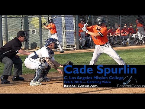Cade Spurlin, Los Angeles Mission College — 2018 Catching Video