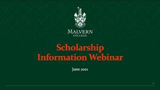 Malvern College Scholarship Information Webinar (19th June 2021)