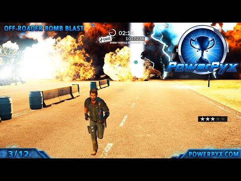 Just Cause 3 - 5 Gears in All Crash Bomb Explosives Challenges - Walkthrough & Locations