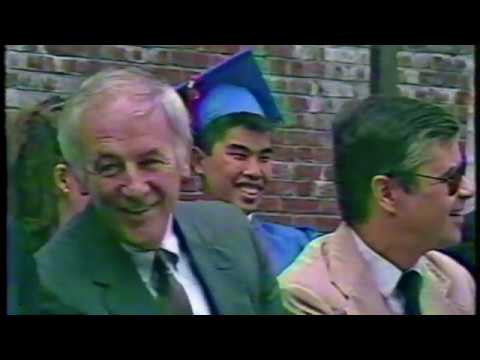 Dr. Robert B. McCarthy addresses the Brookline High School graduating Class of 1987