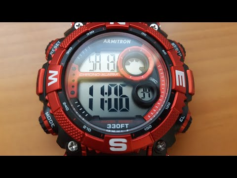 HOW TO SET YOUR ARMITRON 4 BUTTON WATCH