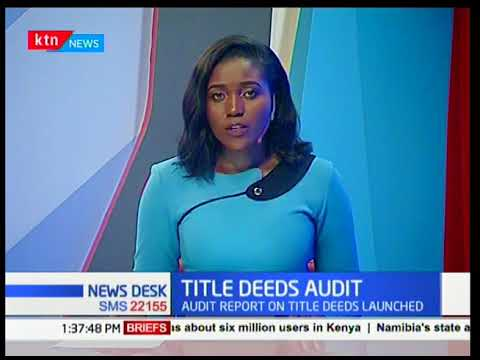 Kenya Land Alliance launch a report on title deeds issued by Jubilee government