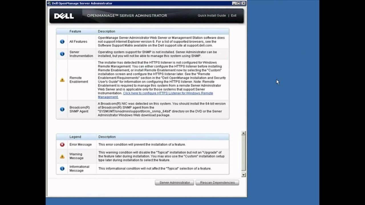 Enable SNMP on Windows Server to be Monitored by Dell OpenManage Essentials  + OMSA