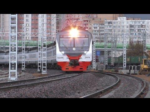 Электропоезд ЭД4М-0474 ЦППК станция Одинцово
