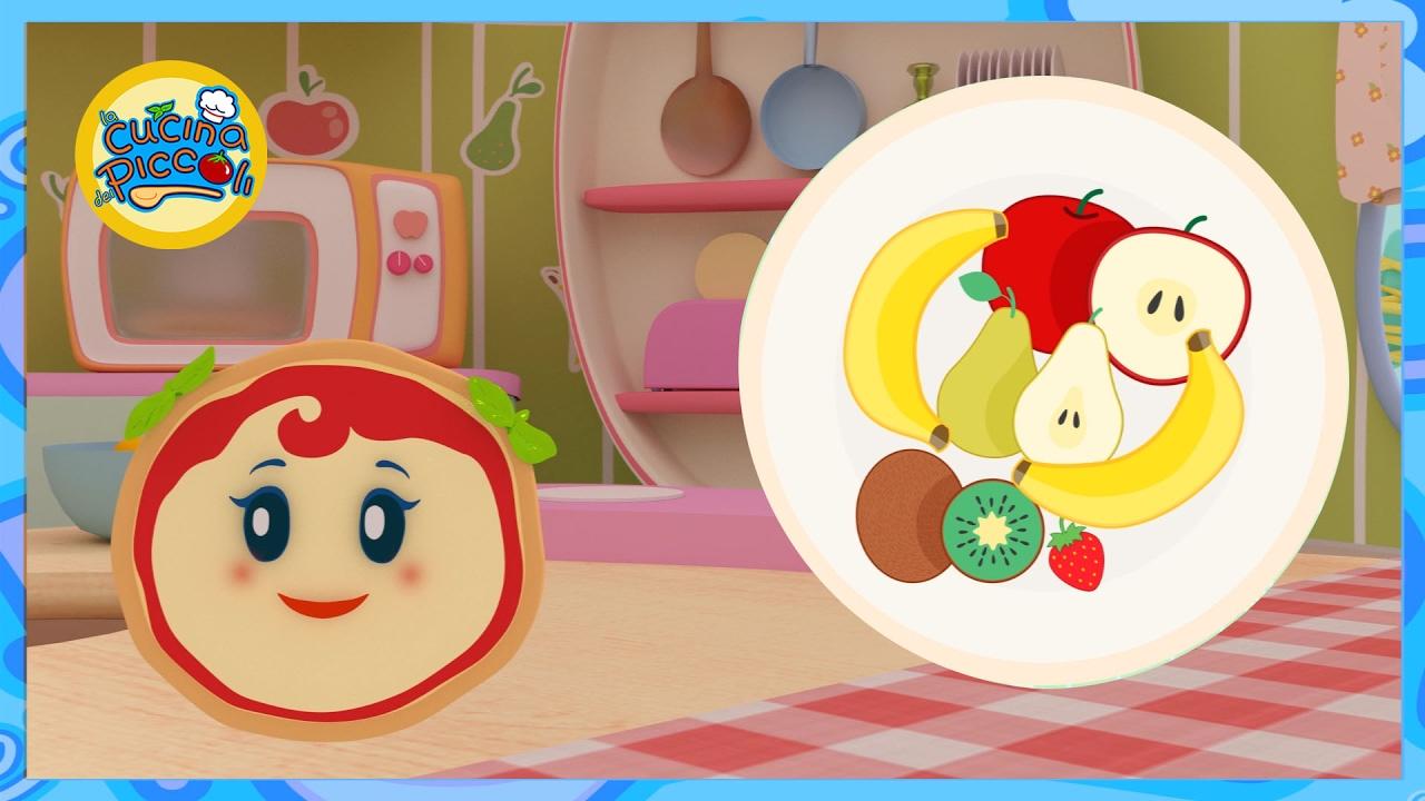 Cartoni animati per bambini giochiamo con la frutta